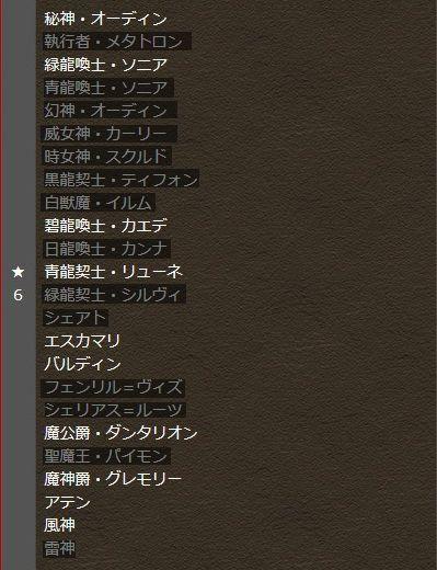 ☆6ラインナップ